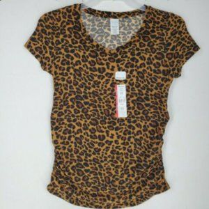 Time and Tru Womens Maternity Top size S Leopard